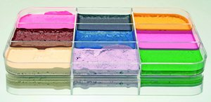 Palette Spezialeffektfarben, fest FX bunt, 9 Farben